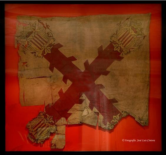 Bandera de Ordenanza de Voluntarios de Aragón